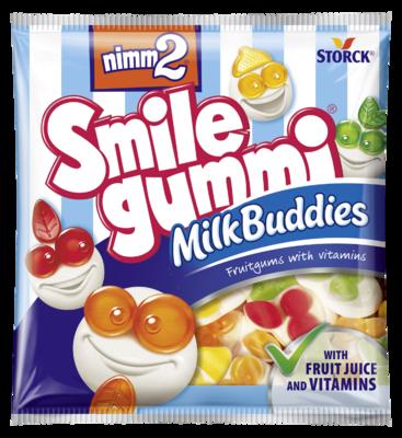 nimm2 Smilegummi Milk Buddies - Ovocné želé obohatené vitamínmi s odtučneným mliekom