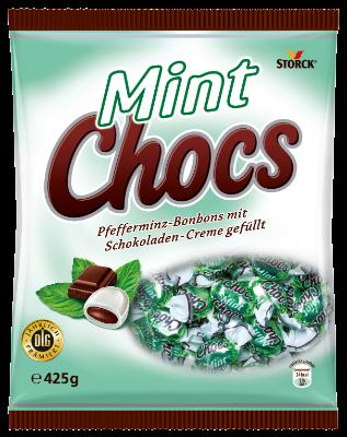 Mint Chocs - Pepermintový bonbón plnený kakaovým krémom (20%)