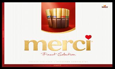 merci Finest Selection mix kolekce 400g - Plnené a neplnené čokoládové špeciality.