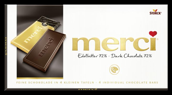 merci tabuľková čokoláda extra horká 72% - Hořká čokoláda/Jemná horká čokoláda