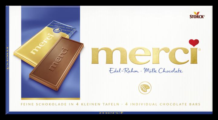 merci tabuľková čokoláda mliečna - Jemná smetanová čokoláda/Jemná smotanová čokoláda