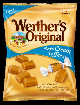 Werther´s Original Soft Cream Toffees - Mäkké smotanové karamelky