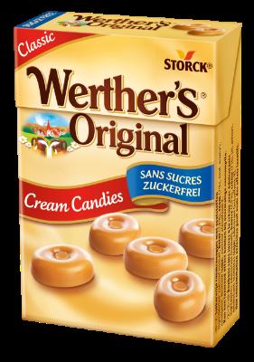 Werther's Original Minis sugar free - Smotanové karamelky bez prídavku cukru. Obsahujú sladidlá.