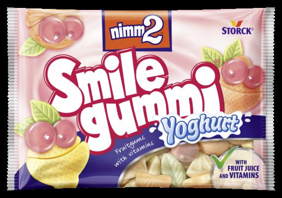 nimm2 Smilegummi jogurt - Sadni gumijevi bonboni z vitamini in jogurtom iz posnetega mleka