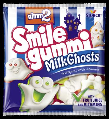 nimm2 Smilegummi MilkGhosts - Sadni gumijevi bonboni z vitamini in posnetim mlekom