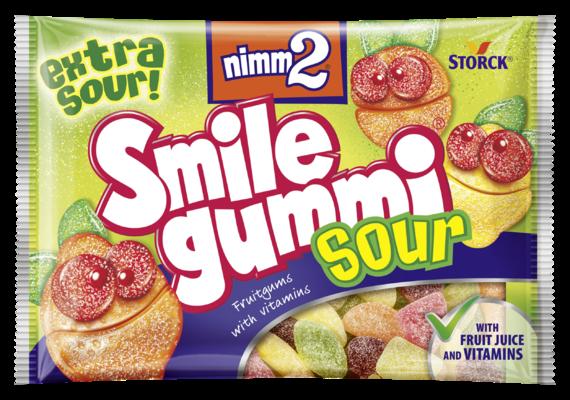 nimm2 Smilegummi kisli - Sadni gumijevi bonboni z vitamini