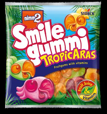 nimm2 Smilegummi TropicAras - Sadni gumijevi bonboni s tropskimi okusi, z vitamini