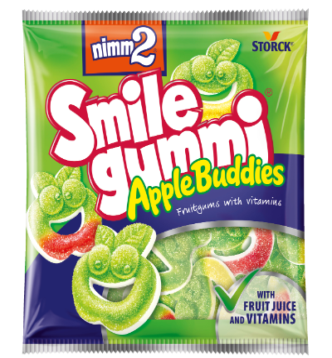nimm2 Smilegummi AppleBuddies - Sadni gumijevi bonboni z vitamini