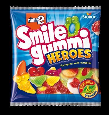 nimm2 Smilegummi Heroes - Sadni gumijevi bonboni z vitamini