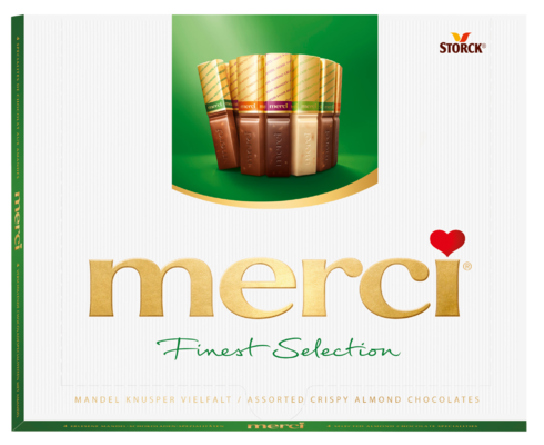 merci Finest Selection izbor čokoladnih specialitet z mandlji 250g - Izbor čokolad s hrustljavimi koščki mandljev (9,2%)
