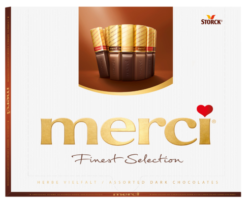 merci Finest Selection izbor čokoladnih in temnih čokoladnih specialitet 250g - Izbor čokolad in polnjenih čokolad.