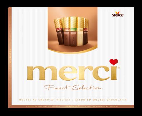 merci Finest Selection izbor čokoladnih specialitet z mousse polnilom 210g - Čokoladne specialitete polnjene z mousse kremo (40%)