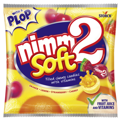 nimm2 Soft - Polnjeni žvečilni sadni bonboni z vitamini