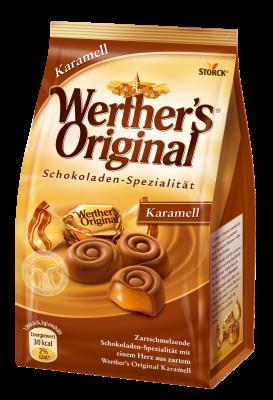 Werther's Original pralineji - Caramel - Mlečna čokolada s karamelnim polnilom (45 %)