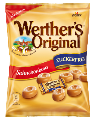 Werther's Original brez sladkorja - Smetanovi bonboni brez sladkorja s sladili