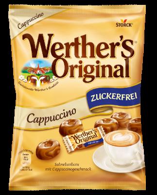 Werther's Original brez sladkorja z okusom kave - Smetanovi bonboni z okusom cappuccina brez sladkorja s sladili