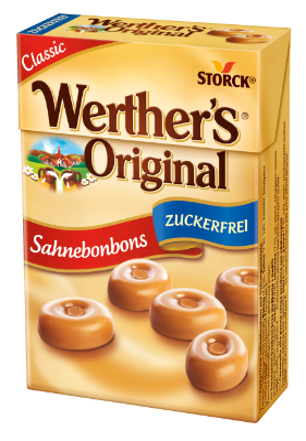 Werther's Original Minis brez sladkorja - Smetanovi bonboni brez sladkorja s sladili