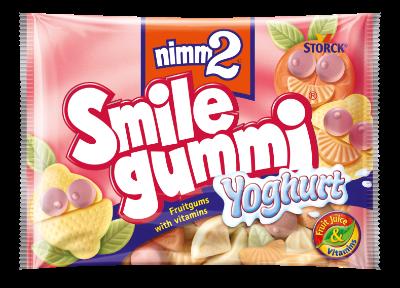 nimm2 Smilegummi yogur - Caramelos blandos con zumo de frutas y leche fermentada desnatada, con 6 vitaminas