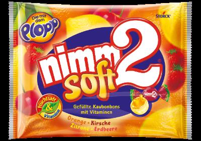 nimm2 blando con relleno - Caramelos masticables rellenos de fruta con vitaminas
