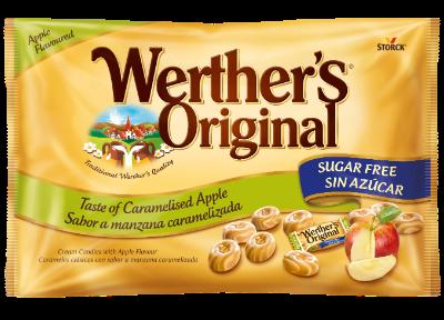 Caramelos clásicos sabor a manzana caramelizada sin azúcar
