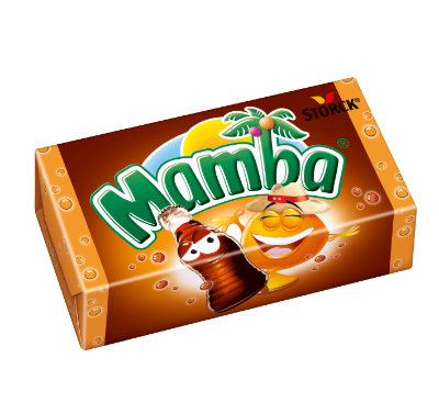 Mamba Cola & Friends Cola-Orange - Sega kolor/Tygge karameller med cola- och fruktsmak/frugtsmag