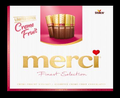 merci Creme Fruit Variety 250g - Fyllda chokladpraliner med fruktsmak