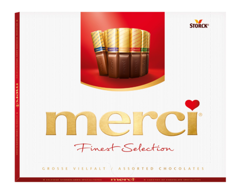 merci Finest Selection 250g Great Variety - Chokladpraliner med och utan fyllning.