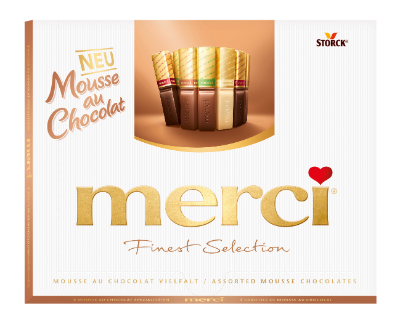merci Finest Selection 210g Mousse au Chocolat - Chokladpraliner med moussefyllning (40 %)
