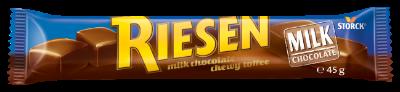 RIESEN Milk stickpack - Chokladkola/Chokoladekaramel/Sjokoladekaramell täckt/overtrukket med mjölkchoklad/mælkechokolade/melkesjokolade (30%)