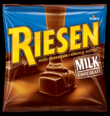 RIESEN Milk - Chokladkola täckt med mjölkchoklad (30%)