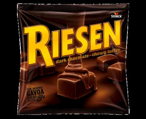 RIESEN - Chokladkola täckt med kraftig mörk choklad (30 %)