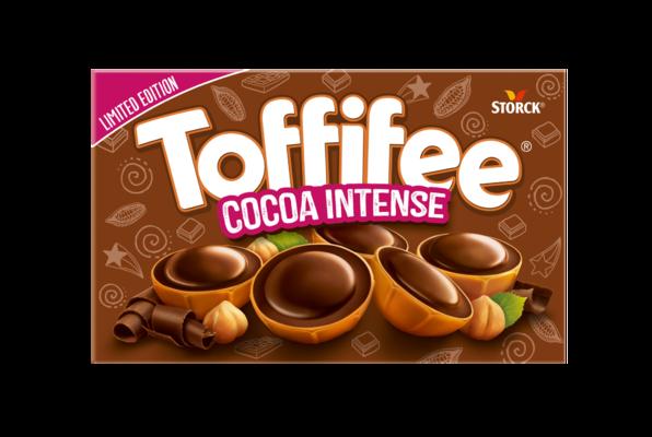 Toffifee Cocoa Intense 15 bitar - En hasselnöt (10%) i kola (41%) med chokladhasselnötskräm-fyllning (37%) och choklad (12%)
