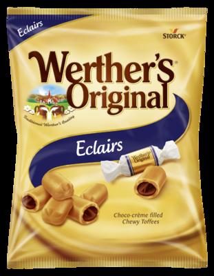 Werther's Original Eclair - Gräddkola fylld med kakaokräm/Karameller med kakaofyld (25%)