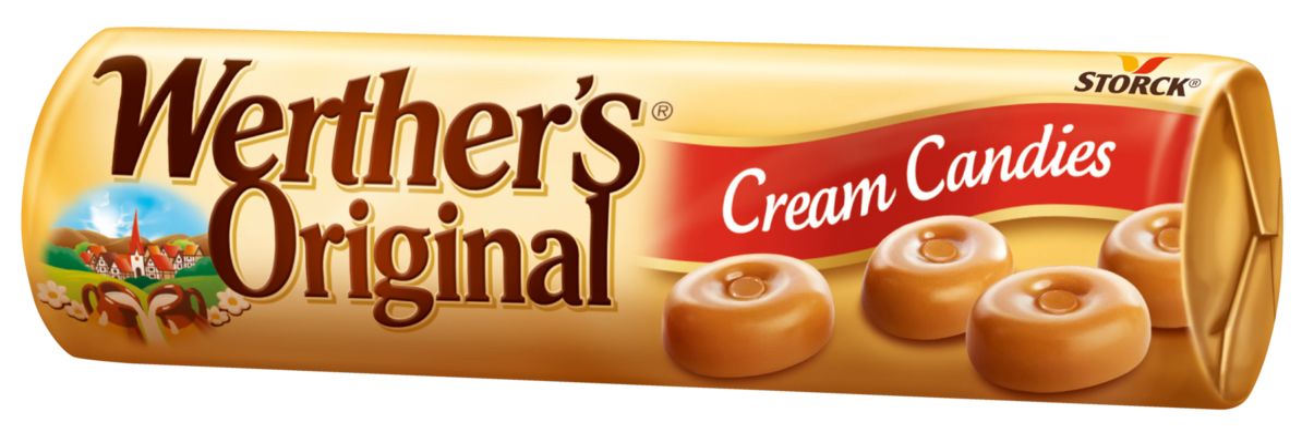 Werther's Original Cream Candies stickpack - Gräddkarameller/Flødebolsjer/Fløtedrops