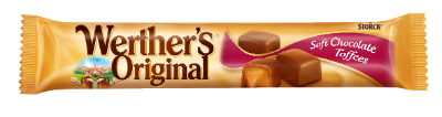 Werther's Original Soft Chocolate Toffees stickpack - Mjuk kola täckt med mjölkchoklad (30 %)
