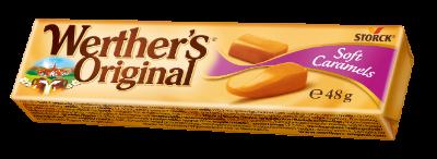 Werther's Original Soft Caramels stickpack - Mjuka/Bløde/Myke gräddkolor/flødekarameller